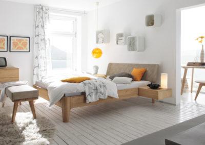 Bett mit runden Ecken