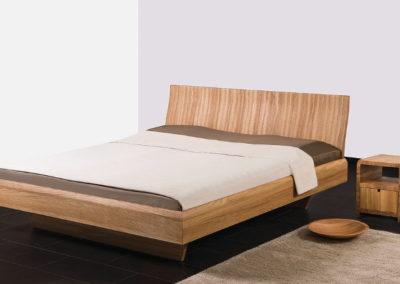 gradliniges Design Bett