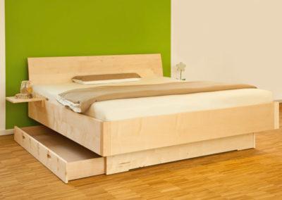 Bett mit Bettkasten Ahorn GS