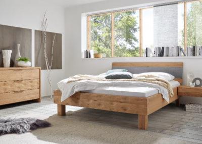 Massivholz Bett H